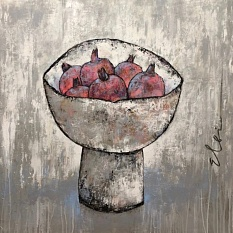 Pomegranate in a bowl